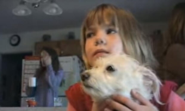 dog saves girl's ife
